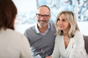 older couple at a professional consultation