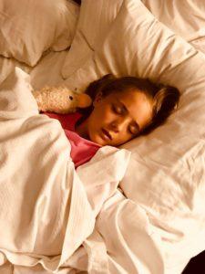 Young girl with sleep apnea in Southlake.