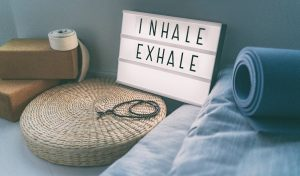 Inhale/exhale sign to illustrate importance of proper airway in Southlake
