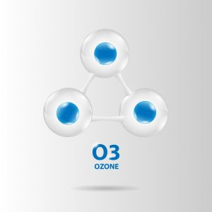 Representation of ozone molecule for use by holistic dentist in Southlake