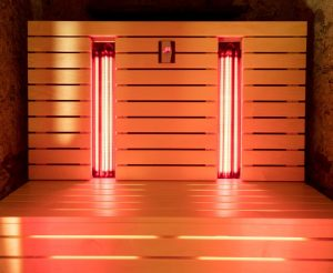 Infrared sauna, may help with removing toxins from the body